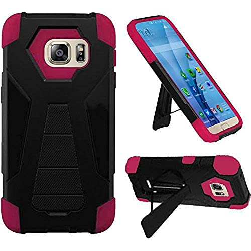 HR Wireless Carrying Case for Samsung Galaxy S7 - Retail Packaging - Black/Hot Pink Sales