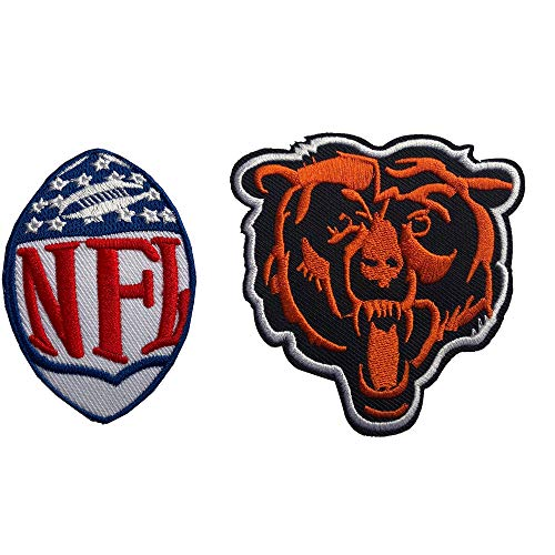 - Hipatch Chicago Bears Embroidered Patch Iron on Logo Vest Jacket Cap Hoodie Backpack Patch Iron On/sew on Patch Set of 2Pcs