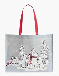 Vera Bradley Market Tote in Beary Merry Polar Bears