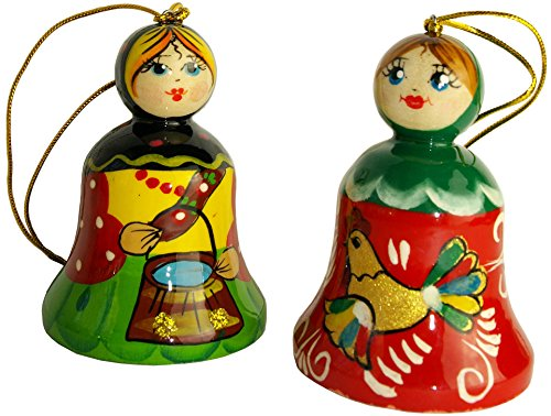 set-of-2-handpainted-wooden-bells-in-the-shape-of-a-girl-hanging-car-ornament-2-1-3-tall-ethnic-wood