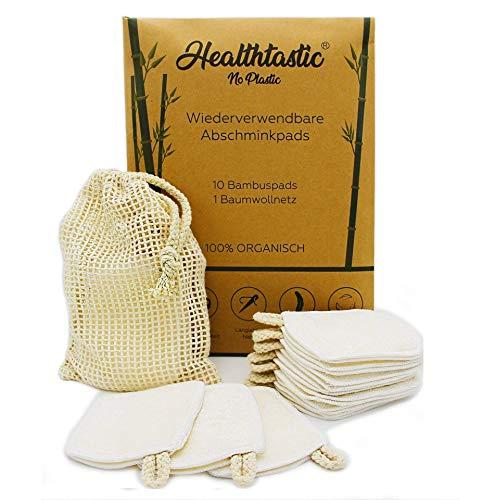 Healthtastic ® 10 x Innovative Stretch-Fingerpads – 4 LAGEN – Waschbare Abschminkpads aus Bambus und Baumwolle INKL…