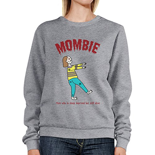 Grey Mombie Printing shirt Taille Femme Alive Still Sweat Deprived Manches 365 Sleep Unique Longues OTwxfqq8Z
