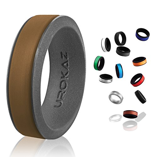 UROKAZ - Silicone Wedding Ring, The Only Ring that Fits Your Lifestyle - Whether You are Single or Married, UROKAZ Ring is Right for You - It is Fashionable, Flexible, and (Baroque Single)