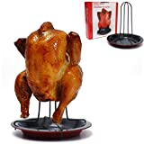 Startview Chicken Duck Holder Rack Grill Stand Roasting For BBQ Rib Non Stick Carbon Steel