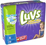 Health & Personal Care : Luvs Size 4 Ultra Leakguards Diaper - 29 per pack -- 4 packs per case.