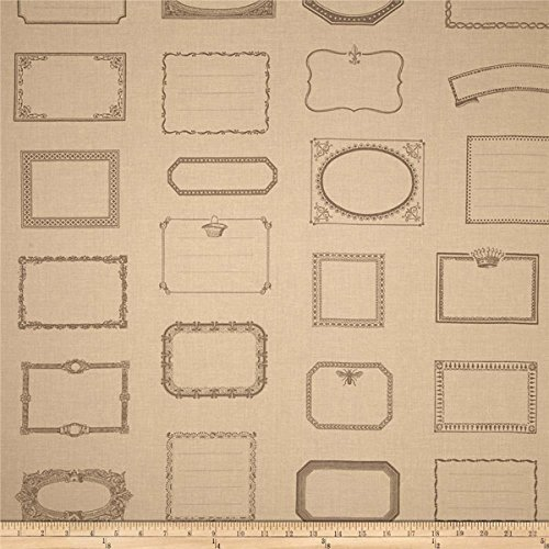 Moda Quilt Labels on Pearl Cotton Fabric by Moda Fabrics