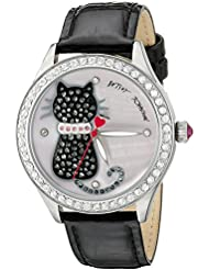 Betsey Johnson Womens BJ00517-06 Analog Display Quartz Black Watch