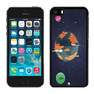 Beautiful Custom Designed Cover Case For iPhone 5C With Linked Planets Illustration Phone Case