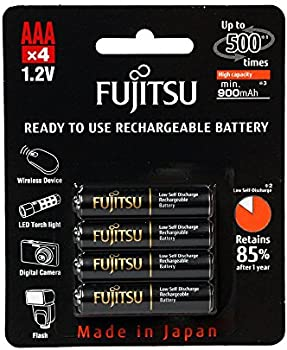 4-Pack Fujitsu AAA 950mAh Rechargeable Batteries