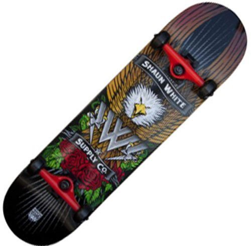Shaun White Supply Co. Park Eagle Complete Skateboard - Black, 32 x 8 Inch by Shaun White Supply Co.