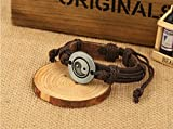Love Beauty Alloy of Yin and Yang eight diagrams accessories leather bracelet B301