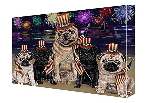 Doggie  4th of July Independence Day Firework Pugs