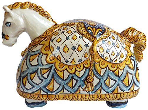 Ghenos-Scultura-ceramica-Cavallo-Dipinta-a-mano