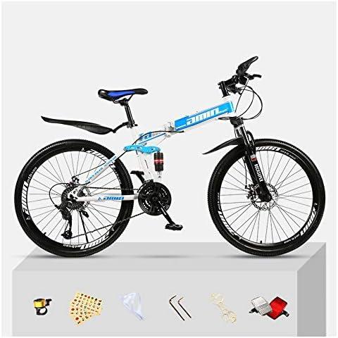 SYLTL Plegable Bicicleta de Montaña 24 Velocidades Dual Suspension ...
