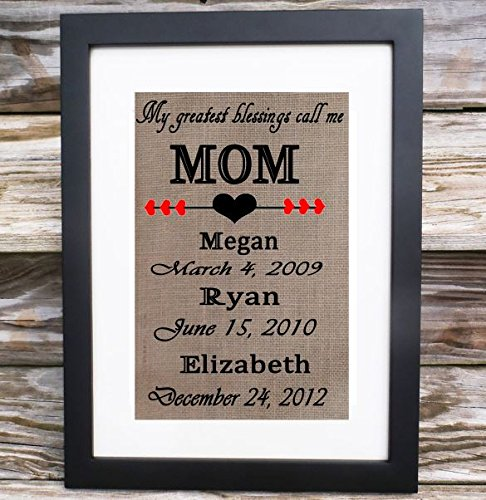 Personalized, Mother Gifts, Mother's Day, My Greatest Blessings Call Me