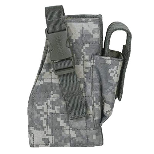 VooDoo Tactical 25-0029075002 Holster with Attached Mag Pouch, Left, Army -