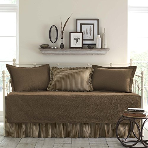 Stone Cottage Trellis 5-Piece Daybed Set, Chocolate ()