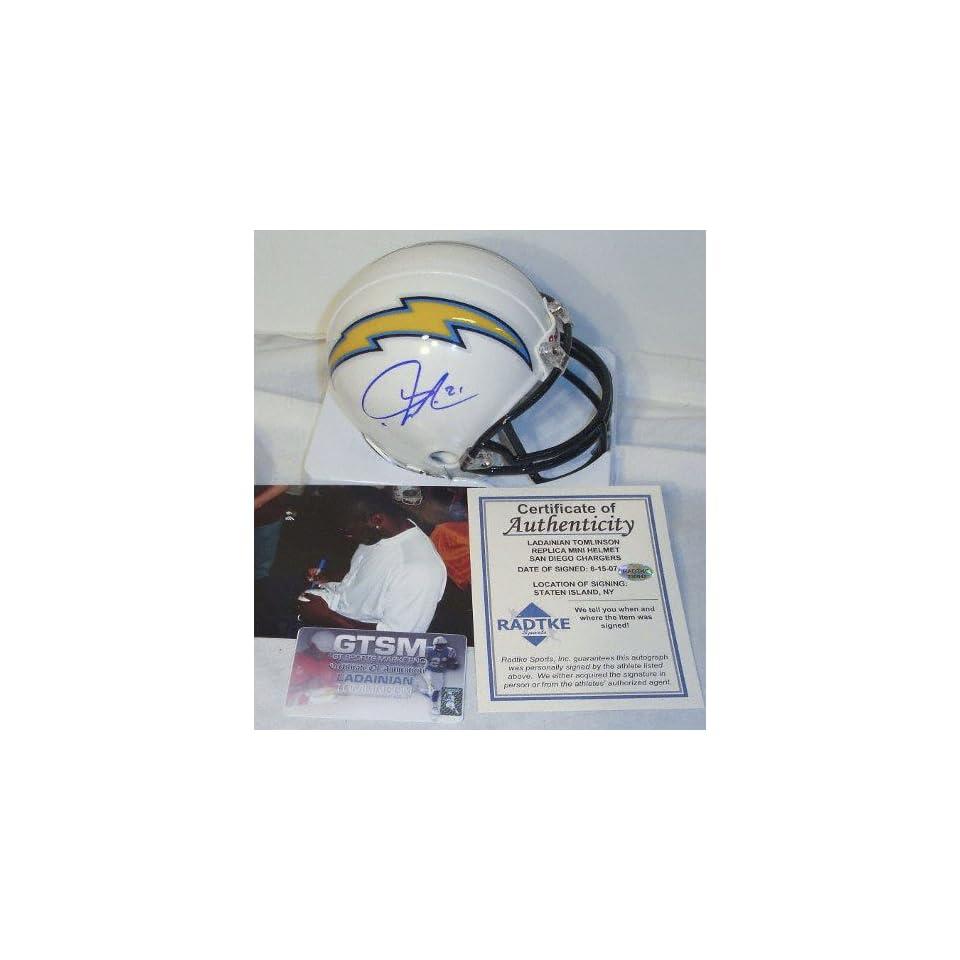 LaDainian Tomlinson San Diego Chargers Autographed White Mini Helmet