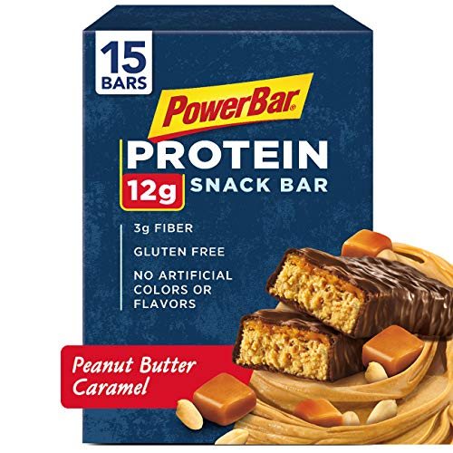 PowerBar Protein Snack Bar, Peanut Butter Caramel, 50 Gram, 1.76 Ounce 15 count Bar Peanut Butter Caramel