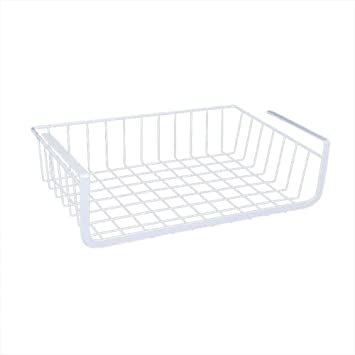 iBaste H/ängekorb aus Metall Aufbewahrungs-Korb f/ür K/üchenschr/änke Kleiderschr/änke Regale Unterbauschrank Unterbau-Regal