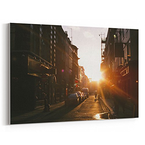 Pamplona Four Light - Westlake Art - Street Sun - 16x24 Canvas Print Wall Art - Canvas Stretched Gallery Wrap Modern Picture Photography Artwork - Ready to Hang 16x24 Inch