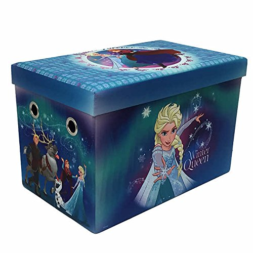 Disney Frozen 24'' Multi-Functional Folding Storage Bench with 200 lb Weight Support Capacity by Disney Frozen
