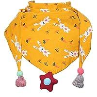 Hosaire 1X Bufanda Niña Algodón Bufandas Patrón de Conejo Impreso Caliente Suave Bebé Triángulo Pañuelos de Cuello para…