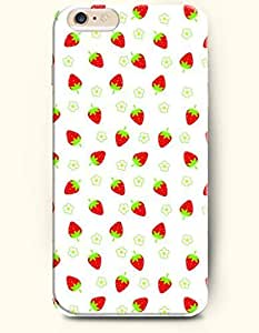 OOFIT Apple iPhone 6 Case 4.7 Inches - Fresh and Yummy Strawberry