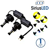 SiriusLED Philips MZ and XHP50 Chipset Extremely Bright 7000 Lumens Canbus Error Free CREE LED Bulbs Conversion Kit for Car Headlights Fog Lights H7 6000K Xenon White with Color Options