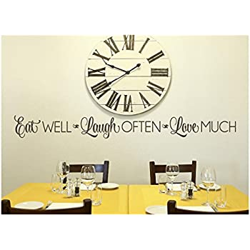 Amazon Com Eat Well Laugh Often Love Much Vinyl