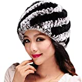 New Women Hats for Winter,Teen Girls Warm Wool Snow Ski Skull Soft Beanie Cap Headgear Knit Berets Headbands Outdoor Black