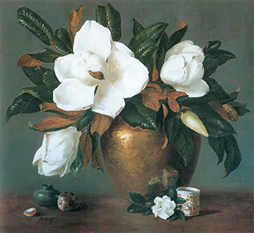 Vintage Magnolia Paintings Decoration unframed