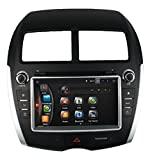 LIKECAR 8'' 2 Din Quad Core Android 4.4.4 Car DVD Player GPS Stereo 1024*600 Touch Screen With Wifi/Bluetooth/DVR/OBD/Output/Steering-Wheel/Mirror Link/Free Map For Mitsubishi ASX Peugeot Citroen C4