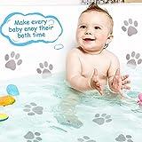 20 Pieces Non-Slip Bathtub Stickers Adhesive Paw