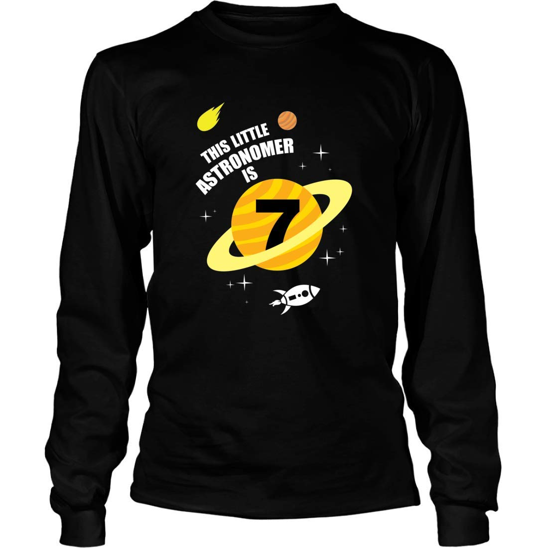 Mishozi This Little Astronomer is 7 Long Sleeve T-Shirt Unisex Shirts Gifts for USSF Space Force