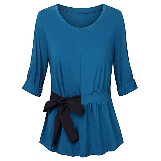 531c56b282d TWGONE Tunic Dresses For Women To Wear With Leggings Long Sleeve O-Neck  Solid Shirts