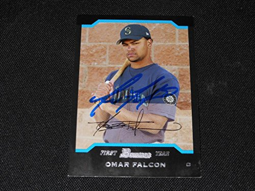 2004 Bowman Autographs - Seattle Mariners Omar Falcon Signed 2004 Bowman Autograph Card #247 TOUGH 113
