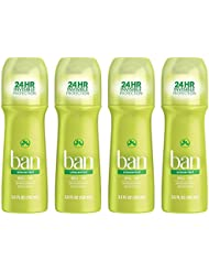 Ban Roll-On Antiperspirant Deodorant, Unscented, 3.5...