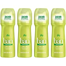 Ban Roll-On Antiperspirant Deodorant, Unscented, 3.5oz (Pack of 4)