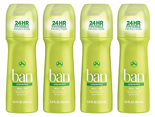 Ban Roll-On Antiperspirant Deodorant, Unscented, 3.5oz (Pack of - Ban E