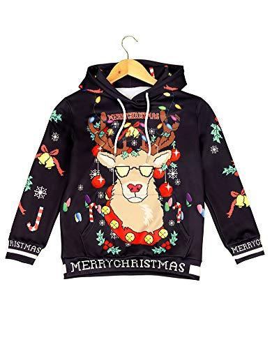 Kids Novelty Christmas Sweater Hoodie,Boys/Girls Ugly Christmas Sweatshirt (6-7(Suggest 48