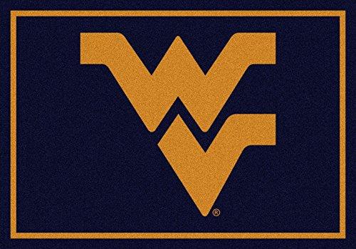 (American Floor Mats West Virginia Mountaineers NCAA College Team Spirit Team Area Rug 5'4