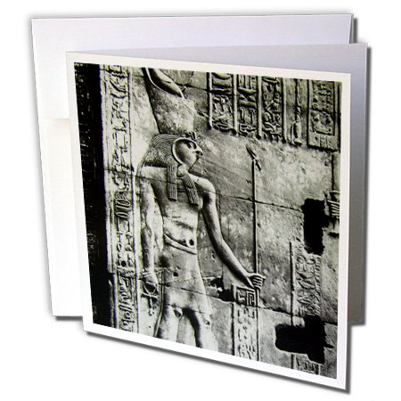 Scenes from the Past Magic Lantern Slides - Temple of Horus Relief Circa 1910 Vintage Egyptian Antiquities - 12 Greeting Cards with envelopes (gc_246851_2)
