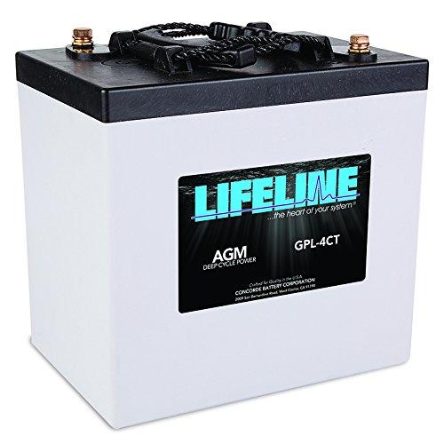 Agm Batteries Lifeline - Lifeline GPL-4CT AGM Marine/RV Battery 6V Volt 750CCA