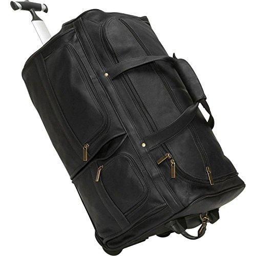 b30506f323ac David King Leather 20 Rolling Duffel Bag in Black by David King   Co