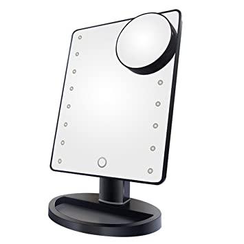 Amazon.com: NEWQIBEAUTY Lighted Makeup Mirror with 16 LED Lights ...