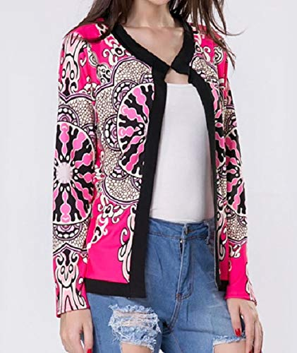 Picture Women's Floral Spring Jacket College Open As Sleeve Crew Long XINHEO Neck 7qPC6wxP