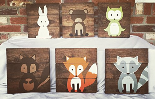 3 Woodland Animal Nursery Signs Nursery Decor Baby Shower Gift or Baby Decor Clever little fox nursery accessories