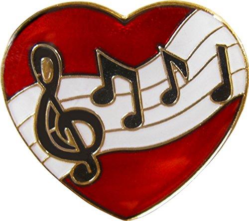 Musical Heart Shaped Enamel -