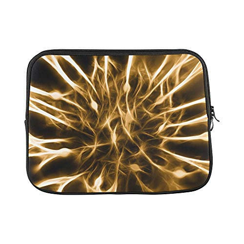 Cells Dendrites Sepia Excitation Brain Gold Sleeve Soft Laptop Case Bag Pouch Skin for MacBook Air 11